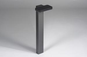 buitenlamp 13950 modern staal rvs antraciet donkergrijs langwerpig