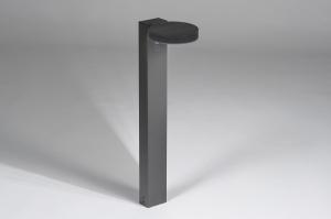 buitenlamp 13953 modern staal rvs antraciet donkergrijs langwerpig