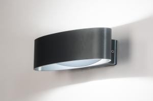 buitenlamp 13968 modern kunststof grijs antraciet donkergrijs ovaal