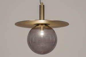 hanglamp 13974 design landelijk rustiek modern retro klassiek eigentijds klassiek art deco glas messing messing