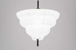 hanglamp 13976 design landelijk rustiek modern zwart mat wit