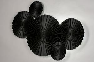 wandlamp 13982 design landelijk rustiek modern eigentijds klassiek metaal zwart mat