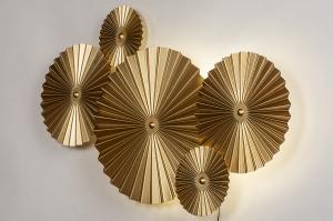 wandlamp 13983 design landelijk rustiek modern eigentijds klassiek metaal goud