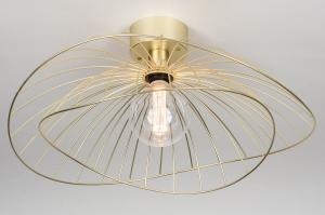 plafondlamp 13984 design landelijk rustiek modern eigentijds klassiek metaal messing