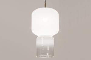 hanglamp 14000 design landelijk rustiek modern eigentijds klassiek glas wit opaalglas helder glas