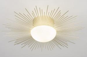 plafondlamp 14007 design landelijk rustiek klassiek eigentijds klassiek metaal messing rond