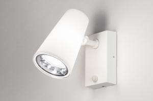 buitenlamp 14013 modern staal rvs kunststof wit mat
