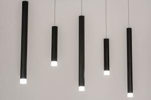 Pendelleuchte 14015 Design modern Kunststoff Metall schwarz matt weiss matt laenglich