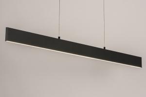 hanglamp 14024 design modern kunststof metaal grijs antraciet donkergrijs langwerpig
