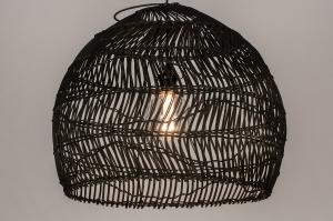 hanglamp 14075 sale landelijk rustiek modern eigentijds klassiek art deco riet zwart mat
