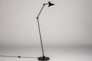 vloerlamp 14092 industrie look modern stoer raw metaal zwart mat wit mat