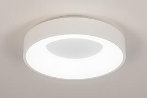 plafondlamp 14096 modern kunststof metaal wit mat rond