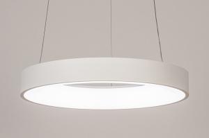 hanglamp 14100 design modern kunststof metaal wit mat rond