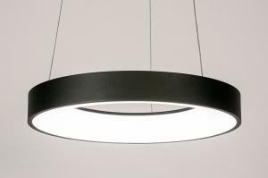hanglamp 14101 design modern kunststof metaal zwart mat rond