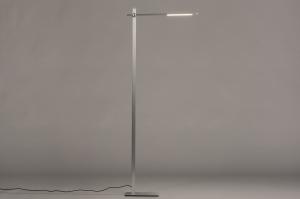 vloerlamp 14102 modern aluminium metaal staalgrijs