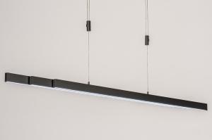 hanglamp 14108 design modern staal rvs kunststof metaal grijs antraciet donkergrijs langwerpig