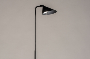 vloerlamp 14132 design modern retro metaal zwart mat rond