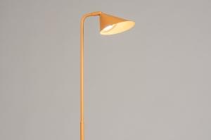 vloerlamp 14134 design modern stoer raw metaal geel langwerpig