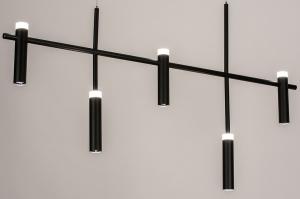 hanglamp 14135 design modern metaal zwart mat