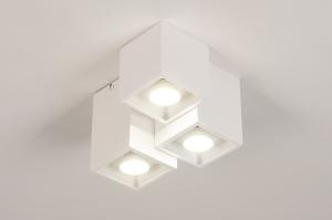 plafondlamp 14141 modern metaal wit mat