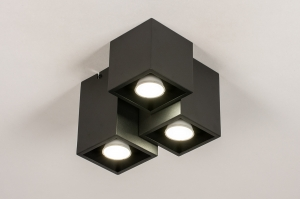 plafondlamp 14142 modern metaal zwart mat