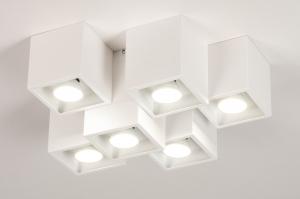 plafondlamp 14143 modern metaal wit mat