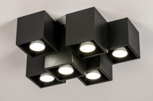 plafondlamp 14144 modern metaal zwart mat