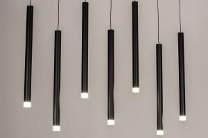 hanglamp 14161 design modern kunststof metaal zwart mat wit mat langwerpig