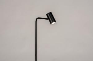vloerlamp 14162 modern metaal zwart mat