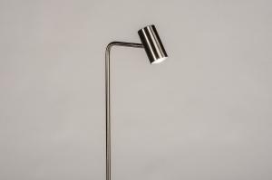 vloerlamp 14163 modern staal rvs metaal staalgrijs
