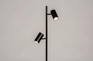 vloerlamp 14164 modern metaal zwart mat