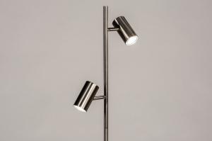 vloerlamp 14165 modern staal rvs metaal staalgrijs