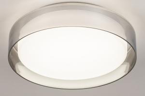 plafondlamp 14168 modern glas wit opaalglas wit rond