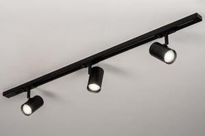 railspot 14172 modern metaal zwart mat langwerpig