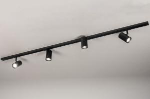 railspot 14174 modern metaal zwart mat langwerpig