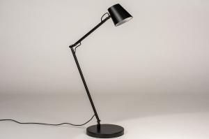 tafellamp 14180 modern metaal zwart mat