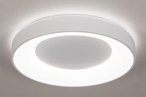 plafondlamp 14196 modern kunststof metaal wit mat rond
