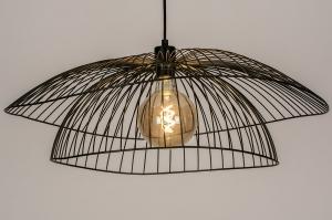 plafondlamp 14235 landelijk rustiek modern eigentijds klassiek metaal zwart mat