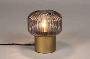 tafellamp 14265 landelijk rustiek modern eigentijds klassiek glas metaal messing