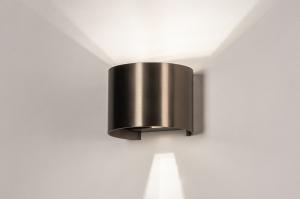 wandlamp 14271 landelijk rustiek modern eigentijds klassiek aluminium bruin rond
