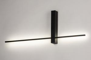 wandlamp 14272 modern aluminium metaal zwart mat langwerpig
