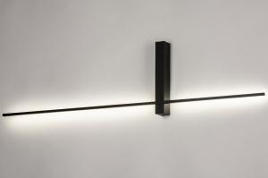 wandlamp 14273 modern aluminium metaal zwart mat langwerpig