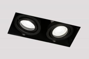 spot 14276 industrie look design modern stoer raw aluminium zwart mat langwerpig