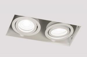Spot 14277 Industrielook Design modern coole Lampen grob Aluminium weiss matt laenglich