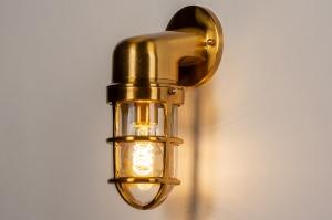 buitenlamp 14279 landelijk rustiek retro klassiek eigentijds klassiek messing glanzend metaal messing lantaarn