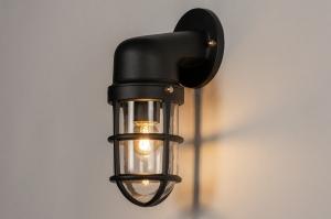 buitenlamp 14280 landelijk rustiek retro klassiek eigentijds klassiek metaal zwart mat lantaarn