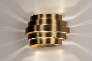 wandlamp 14291 modern retro klassiek eigentijds klassiek art deco messing aluminium metaal goud messing rond