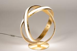 tafellamp 14362 design modern eigentijds klassiek messing metaal goud messing rond