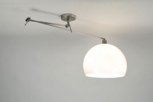 pendant light 30000 modern retro stainless steel plastic white round