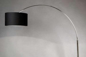 floor lamp 30010 rustic modern contemporary classical steel stainless steel fabric black round